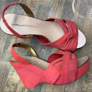 Red Wedges DVF
